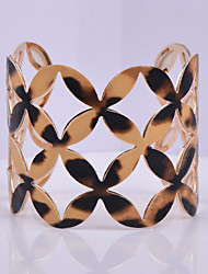 D Exceed Women's Fashion Cuff Bracelet Flower Hollow Out Design Personality Wide Bracelets