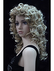Новая мода очаровательный 50см клубника блондинка смесь блондинка наконечник женщин вьющиеся синтетический парик