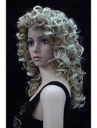 nova moda encantador 50 centímetros de morango mix loira ponta loira cabeleira encaracolada sintético das mulheres