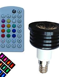 Spot Gradable/Audio-activé/Commandée à Distance/Décorative RGB SchöneColors® 1 pièce B E14 4 W 1 LED Haute Puissance LM AC 85-265 V
