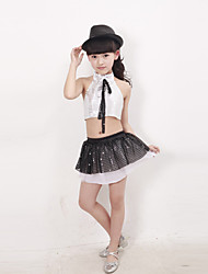 Shall We Jazz Performance Outfits Children Performance Polyester Sequins Outfit(More Colors) Kids Dance Costumes