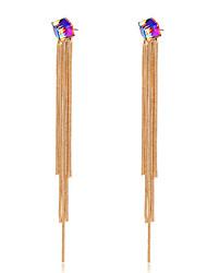 Korean Fashion Tassels Crystal EarRings
