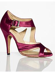 Non Customizable Women's Dance Shoes Latin Flocking Stiletto Heel