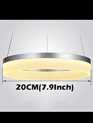 Round LED Pendant Light Modern Acrylic Lamps Lighting Luxurious Single Ring D20CM Ceiling Lights Fixtures