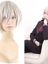Angelaicos Men Miketsukami Soushi Inu x Boku SS Short Grey Layered Boys Halloween Costume Party Cosplay Wigs