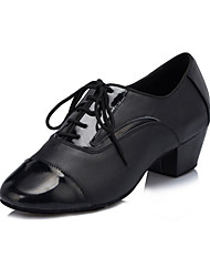 Non Customizable Men's Dance Shoes Latin Silicone Low Heel Black