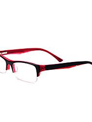 [lentes libres] rectángulo acetato media llanta anteojos recetados moda