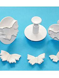 cuatro c cortadores pastel mariposa émbolo, herramientas fondant de alta calidad, herramientas de pastelería pastel de Juego de moldes
