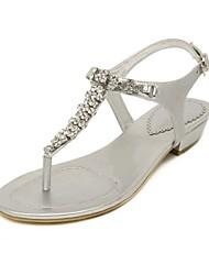Women's Shoes Leather Flat Heel Flip Flops Sandals Party