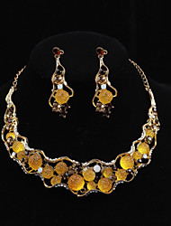 Conjunto de jóias Cristal/Imitação de Pérola Liga Mulheres