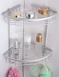 Home/Hotel Bathroom Sets Products Aluminium Doule Layer Shelf