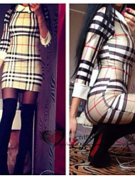 VICONE Women's  Lattice Bodycon OL Slim Dresses