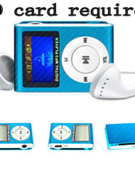 Mp3 Mini Lettore Clip USB LCD Screen Rechargeable FM Radio Player Support 32GB Micro SD verde