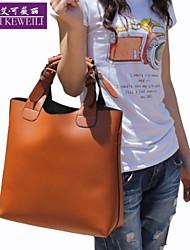AIKEWEILI®Women's Handbag Fashion Vintage PU Leather Totes Bag Korean Style Casual Shoulder Bags Hobo Shopping Bags