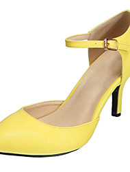 SEXYHER Womens Fashion 2.2 Inches Kitten Heel Office Ladies Shoes -YELLOW