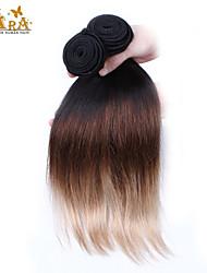 Омбре Индийские волосы Прямые 12 месяцев 3 предмета волосы ткет