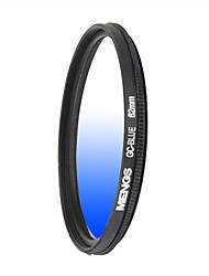 MENGS® 62mm Graduated BLUE Filter With Aluminum Frame For Canon Nikon Sony Fuji Pentax Olympus Etc Camera