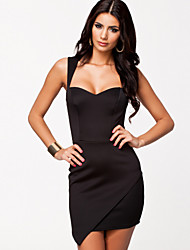 Vestidos ( Negro/Verde , Poliéster/Licra , Desempeño/Ropa de Noche ) - Desempeño/Ropa de Noche - para Mujer