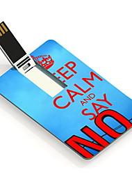 64GB Keep Calm and Say No Design Card USB Flash Drive