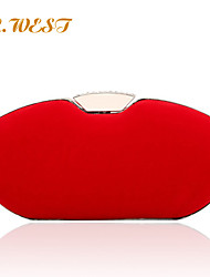 L.WEST® Women's Flannelette Pure Color Evening Bags