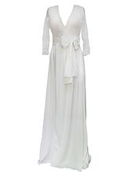 Women's V Neck Prom Party Evening Maxi Dress