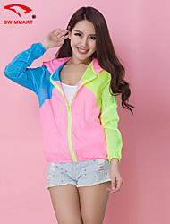 Women's Outdoor Sports Apparel Sun-protective Clothing Beach/Casual Thin Long Sleeve Regular Jacket SM4A04