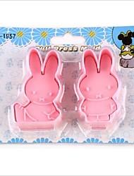 мультфильм DIY весело Miffy кролик помады резак торт плесень