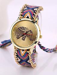 reloj pulsera animal print bricolaje vendimia ocasional siete chica