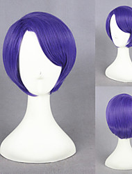 12inch Short Tokyo Ghoul Wig Shuu Tsukiyama Wig Cosplay Purple Synthetic Anime Cosplay Costume Hair Wig CS-195I
