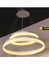 Round LED Pendant Light Modern Acrylic Lamps Lighting Luxurious Double Rings D3050 Ceiling Lights Fixtures