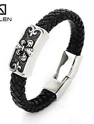 Kalen Men's Jewelry New Designs of Leather Bracelet