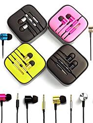 palestra auricolare di alta qualità con microfono e controllo della linea per Samsung S4 / S5 / S6 e HTC sony telefoni Android (colori