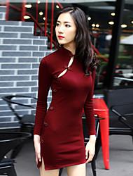 De las mujeres Vestido Casual Mini Algodón