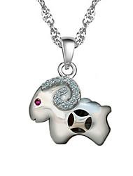 KIKI 925 silver Chinese ram Zodiac Pendant