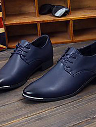 Men's Shoes Wedding/Office & Career/Casual Leather Oxfords Black/Blue/Burgundy