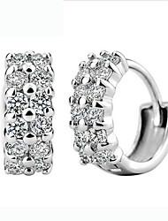 KIKI 925 silver double diamond ear clip earrings
