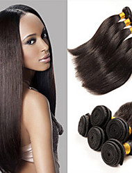 "3pcs / lot brasileña virginal del pelo barata recta brasileña del pelo recto 8 ""-34"" manojos de cabello humano"