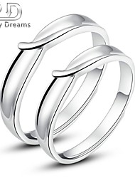 Poetry Dreams Solid Sterling Silver Adjustable Rings Couple Rings Set