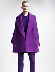 Women's Fashion Vintage Tailored Collar Thick Long Sleeve Long Coat
