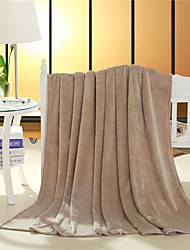 Couverture - W79XL91inch(W200XL230cm) - en Coton / Polyester - Champagne