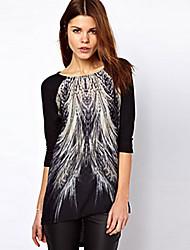 TYTWomen's Fashion Round Neck  All Match Long Sleeve Blouse