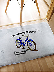 "Bath Mat Memory Foam ""The Meaning Of Travel"" W20"" x L31""- Multi-colours Available"