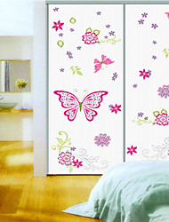 Wall Stickers Wall Decals, Style Pink Butterfly PVC Wall Stickers