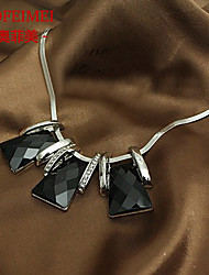 Korean version of the simple little box necklace female short paragraph
