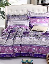 Mingjie folhas roxas conjuntos de cama 6d 4pcs queen size e roupa de cama de tamanho completo china conjuntos de cobertura Duvert