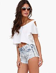 Schouderafhangend - Katoen Vrouwen - T-shirt - Mouwloos