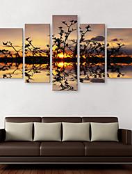 е-Home® растягивается холсте отражение воды Декоративная роспись набор из 5