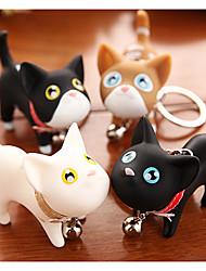 Cute Candy Cat Cartoon Kitty Love Charm Style Key Ring (Random Color)