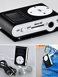 4G Mp3 Mini Lettore Clip USB LCD Screen Rechargeable FM Radio Player