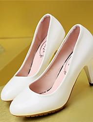 Stiletto - 3-6cm - Damenschuhe - Formal ( Lackleder , Schwarz/Rosa/Weiß )